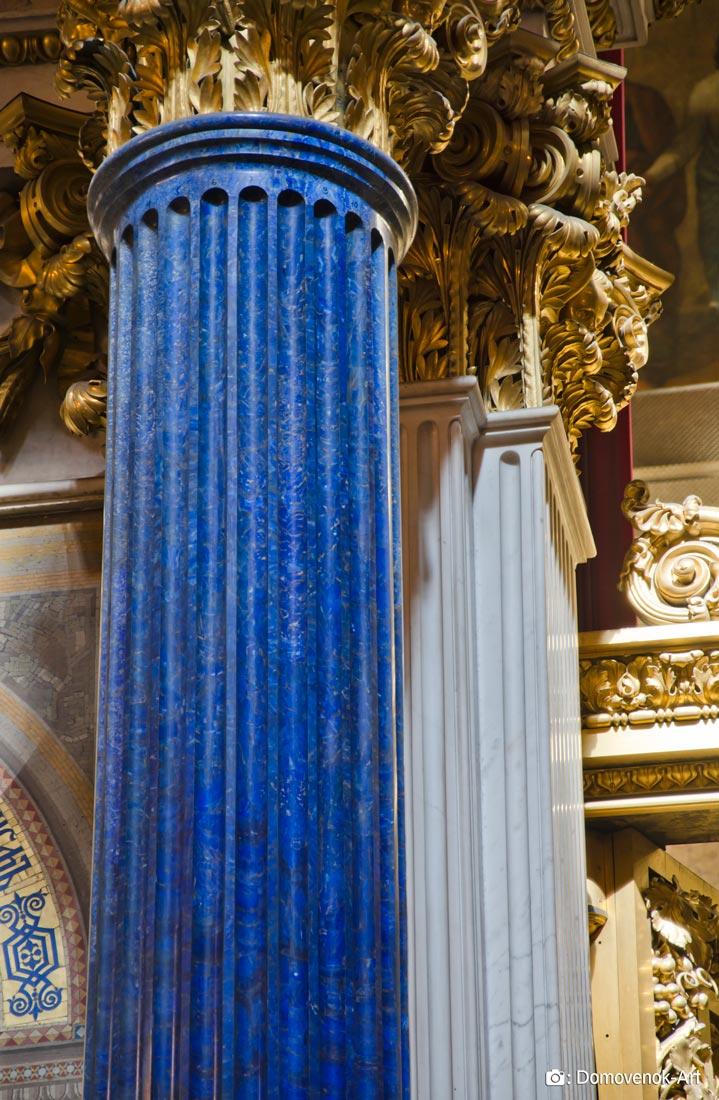 Колонна из лазурита. Исаакиевский собор
