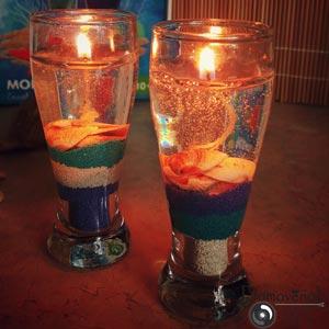 Красивые гелевые свечи своими руками. Мастер-класс