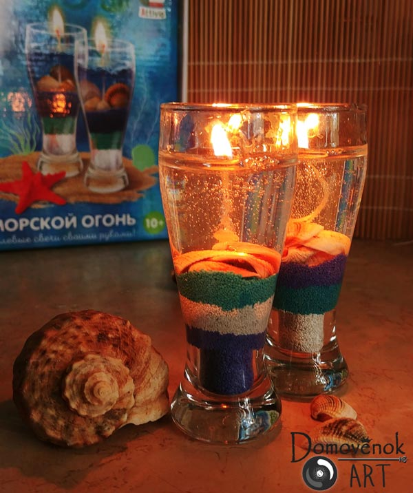 Гелевые свечи своими руками
