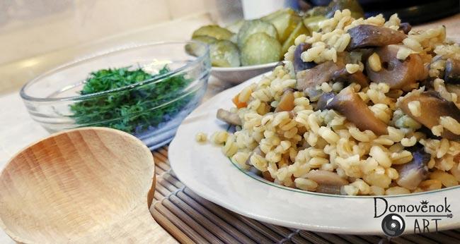 Вегетарианский грибной плов