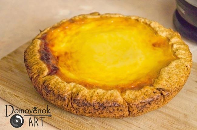 Пирог сметанник лимонный