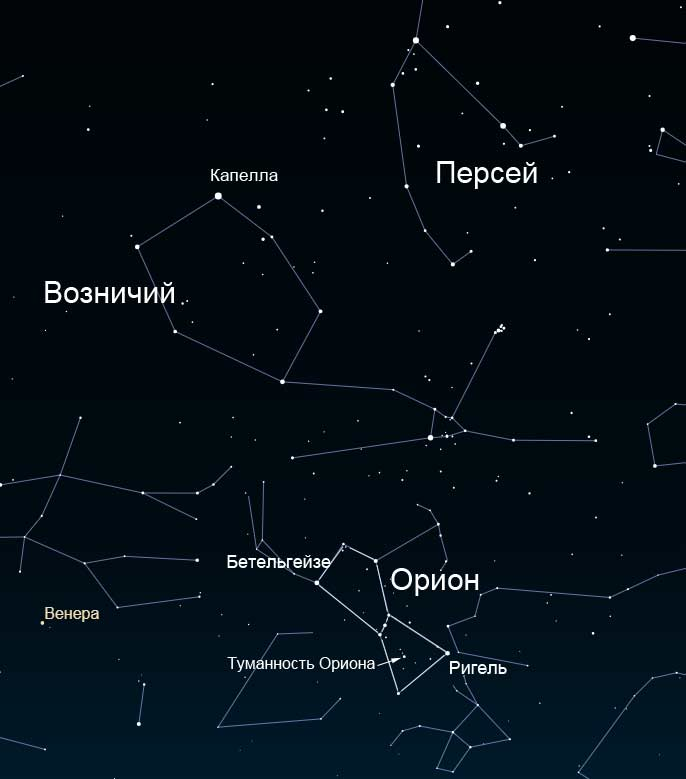Как найти созвездие Ориона