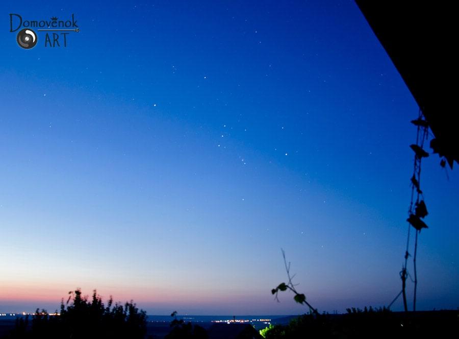 Созвездие Орион на небе