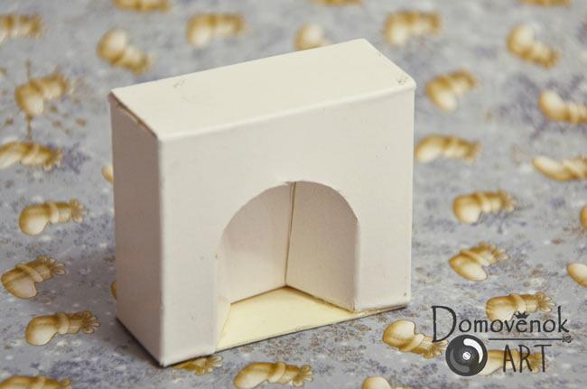 Заготовка мини камина для открытки
