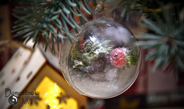 Прозрачный шар со снегом